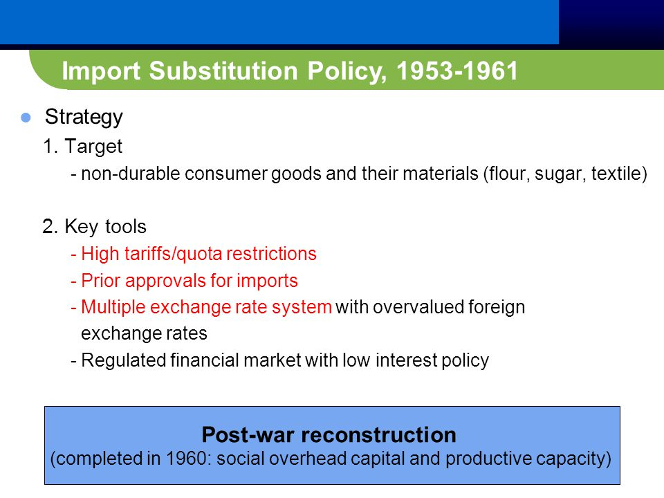 Strategy 1. Target - non-durable consumer goods and their materials (flour, sugar, textile) 2.