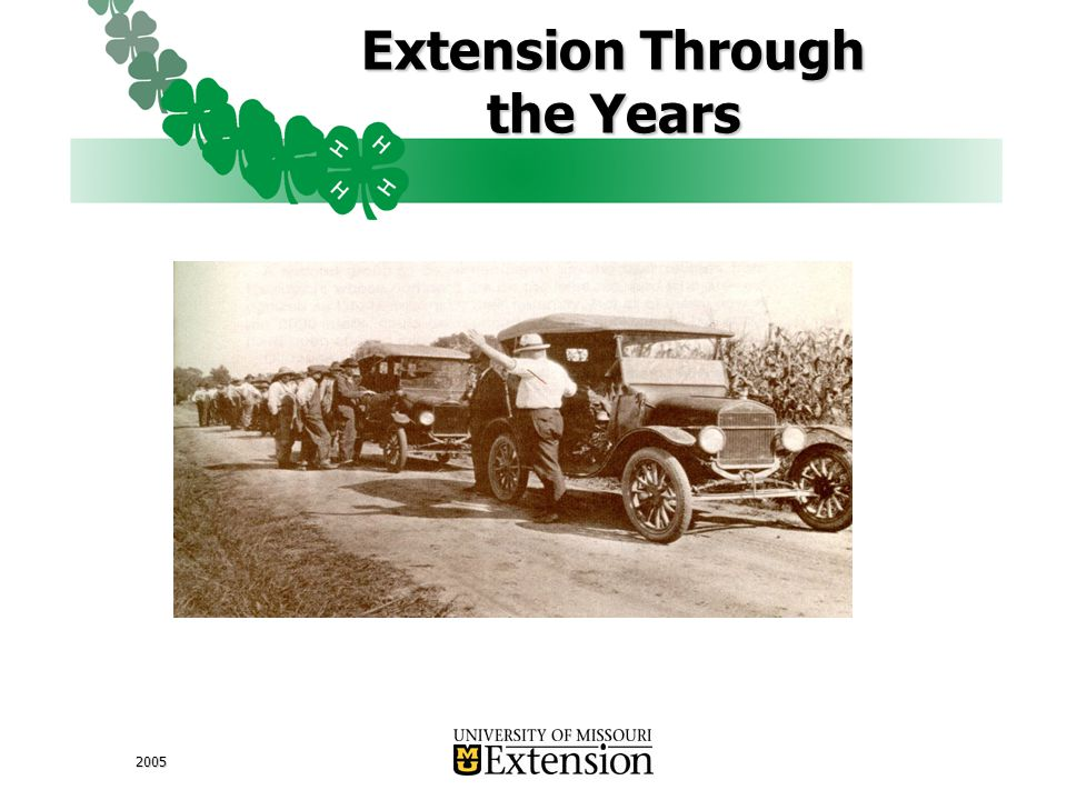 2005 Extension Through the Years