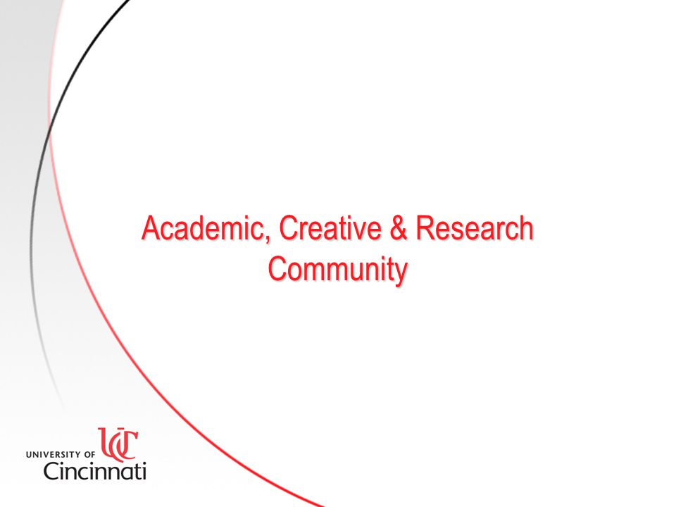 Academic, Creative & Research Community