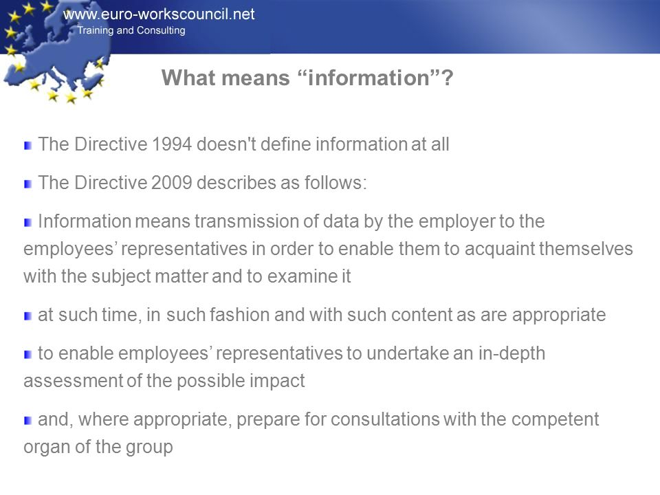 What means information .