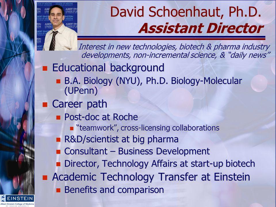 David Schoenhaut, Ph.D.