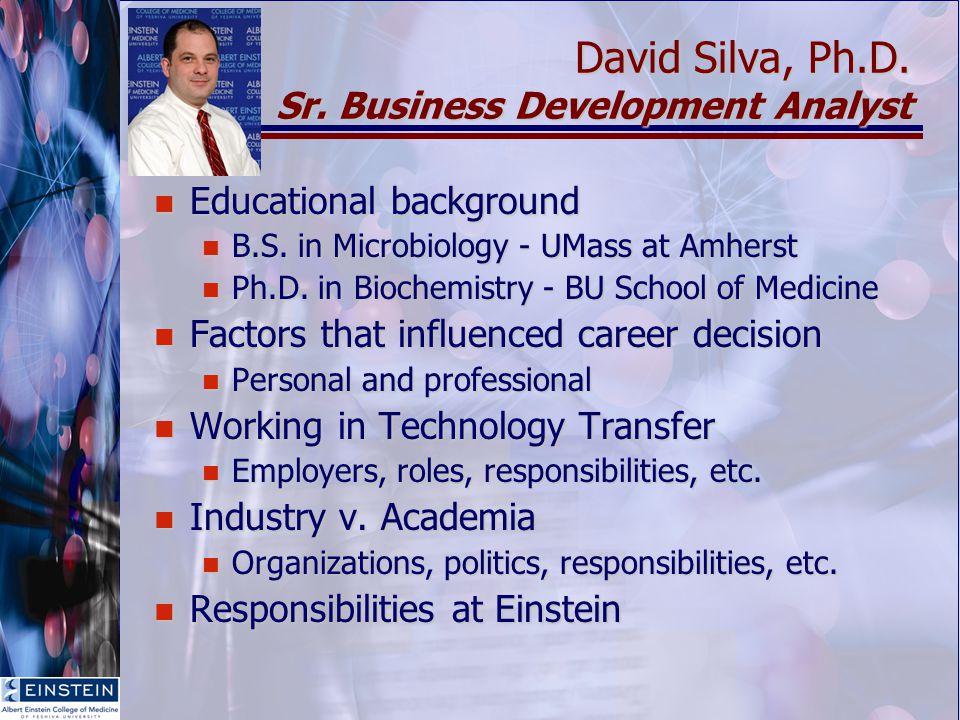 David Silva, Ph.D. Sr.