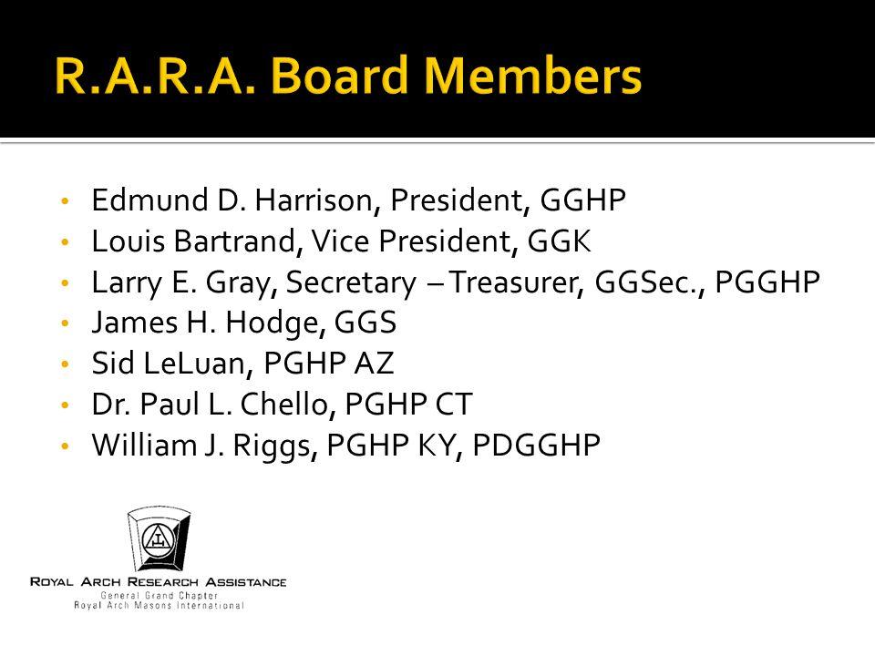 Edmund D. Harrison, President, GGHP Louis Bartrand, Vice President, GGK Larry E.
