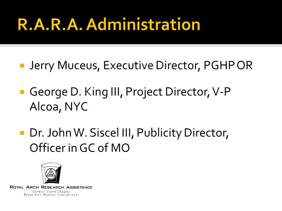  Jerry Muceus, Executive Director, PGHP OR  George D.
