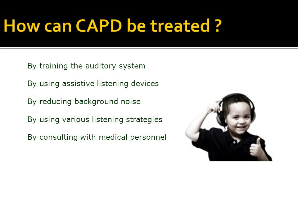 How can CAPD be treated .