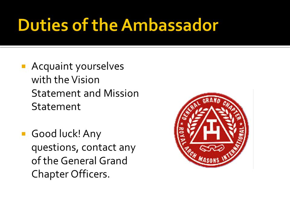  Acquaint yourselves with the Vision Statement and Mission Statement  Good luck.