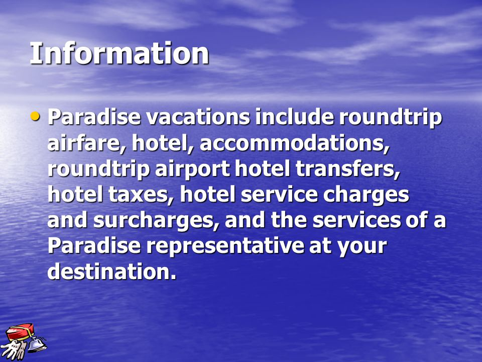 Service Paradise Vacations is one of the nation's leading vacation companies.