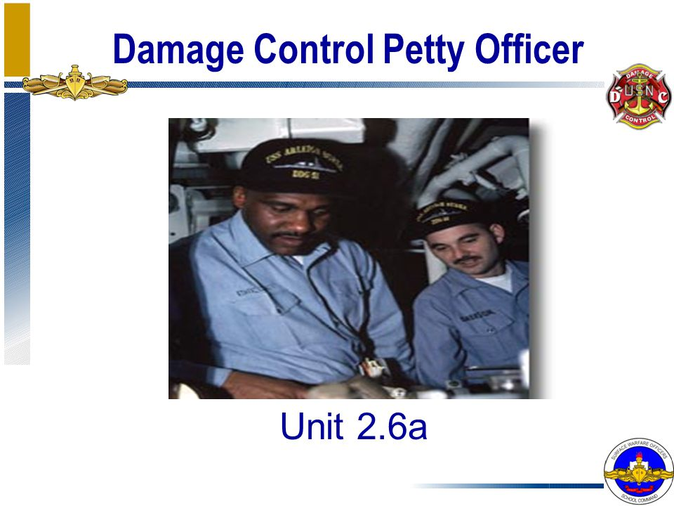Damage Control Petty Officer Unit 2.6a