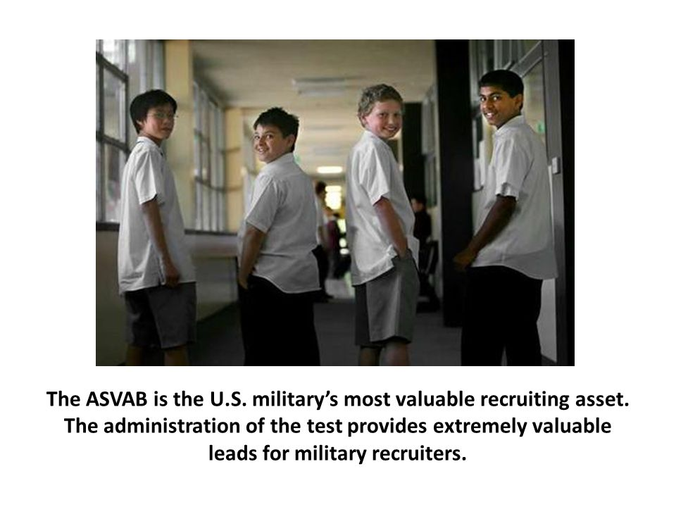 The ASVAB provides a fast track to enlistment.
