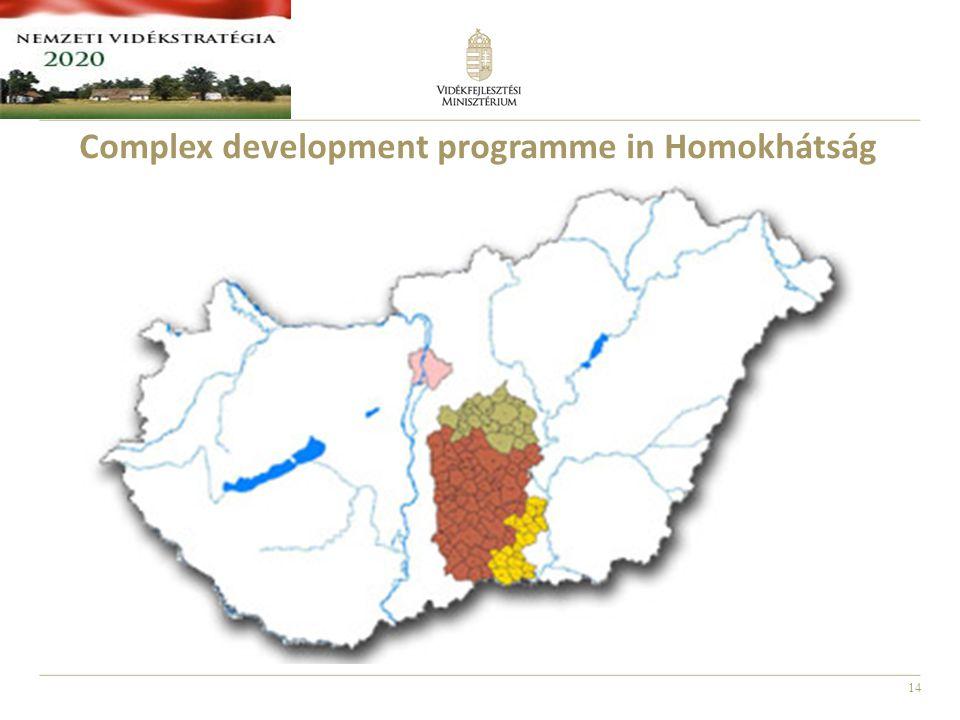 14 Complex development programme in Homokhátság