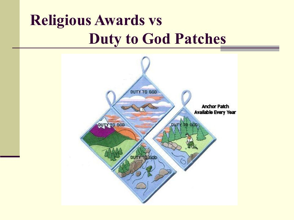 Religious Awards vs Duty to God Patches