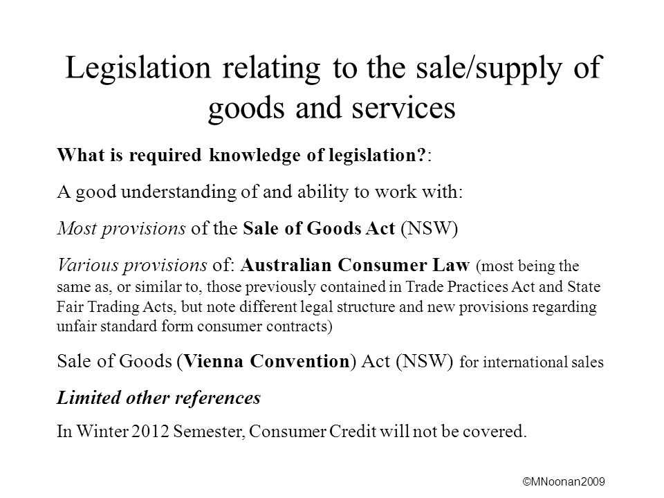 ©MNoonan2009 False/Misleading Representations Penalties for contravention CRIMINAL See ss.