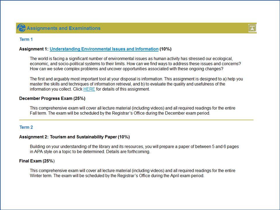 TREN Assignment 1:  Assignment overview