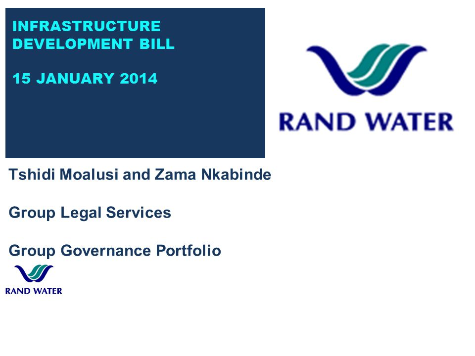 INTRODUCTION  Rand Water ( RW ) extends its gratitude.