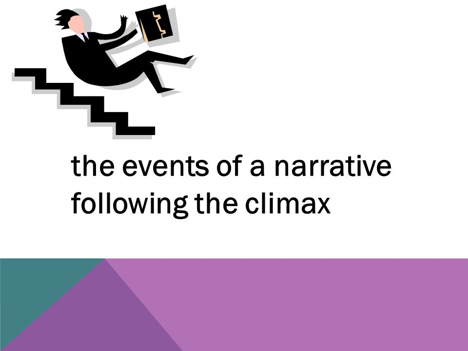 the events of a narrative following the climax