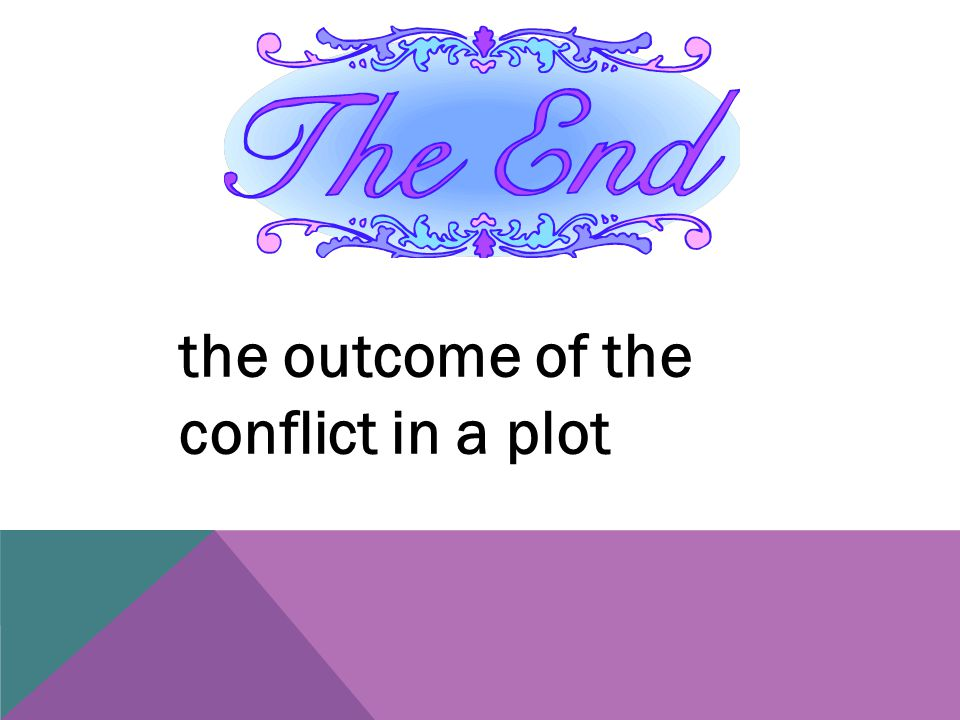 the outcome of the conflict in a plot