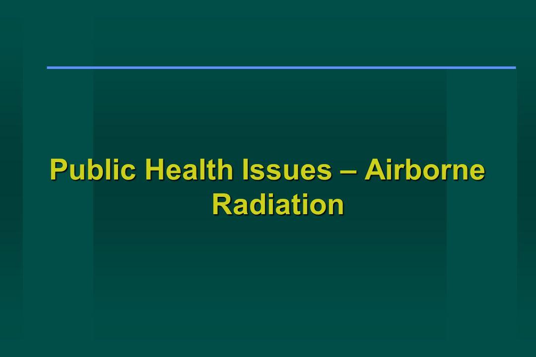 Public Health Issues – Airborne Radiation