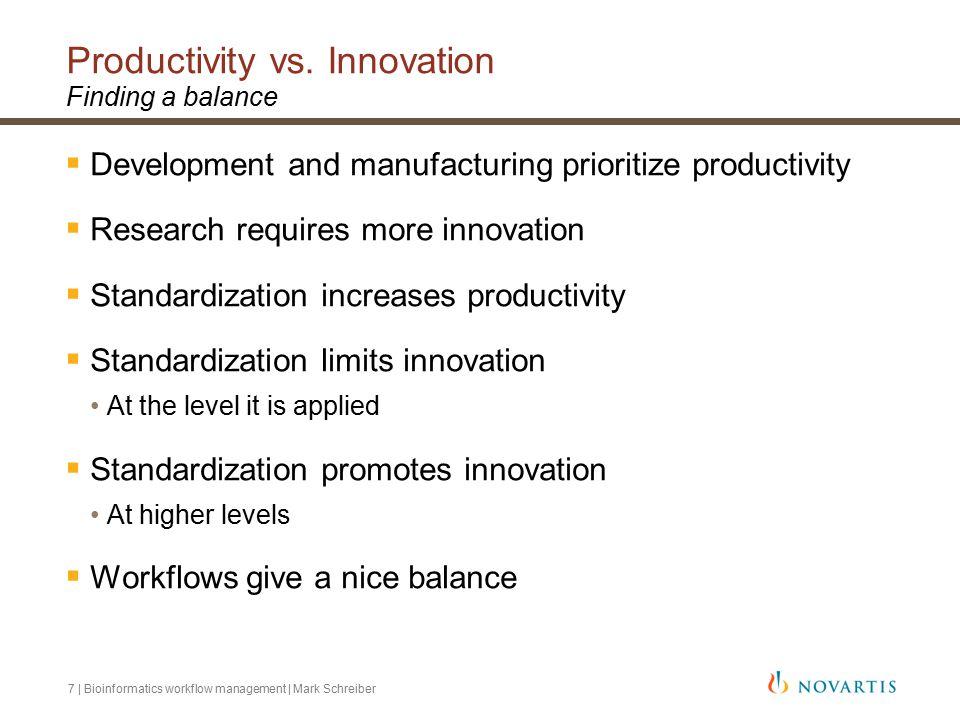 7 | Bioinformatics workflow management | Mark Schreiber Productivity vs.