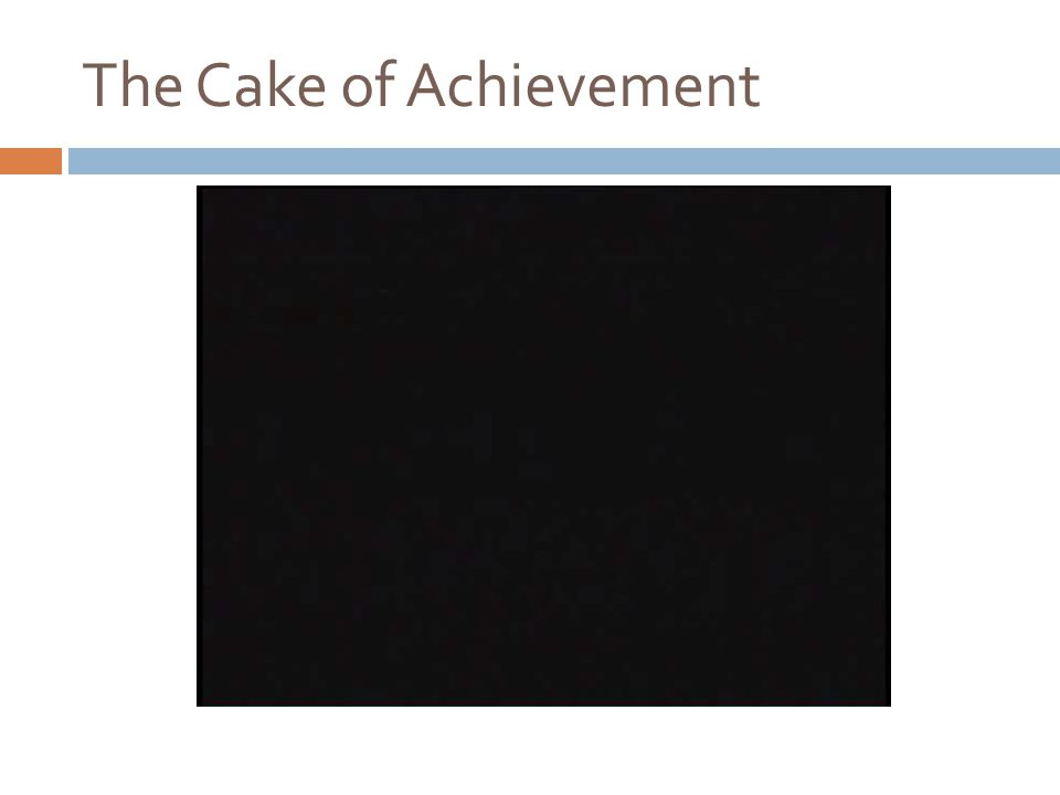The Cake of Achievement