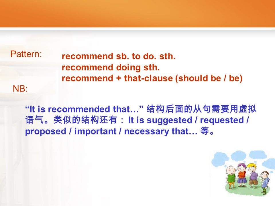 Article5_W _recommend1 recommend: v. Can you recommend a good dictionary to me.