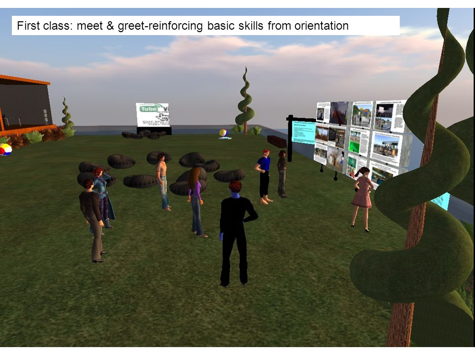 First class: meet & greet-reinforcing basic skills from orientation