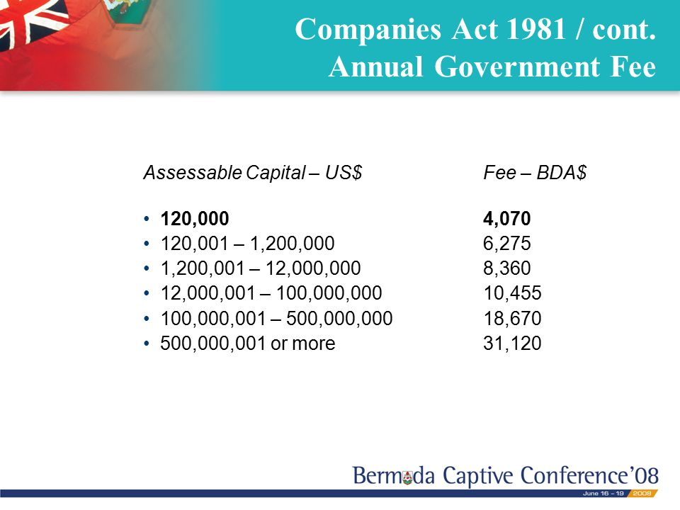 Companies Act 1981 / cont.