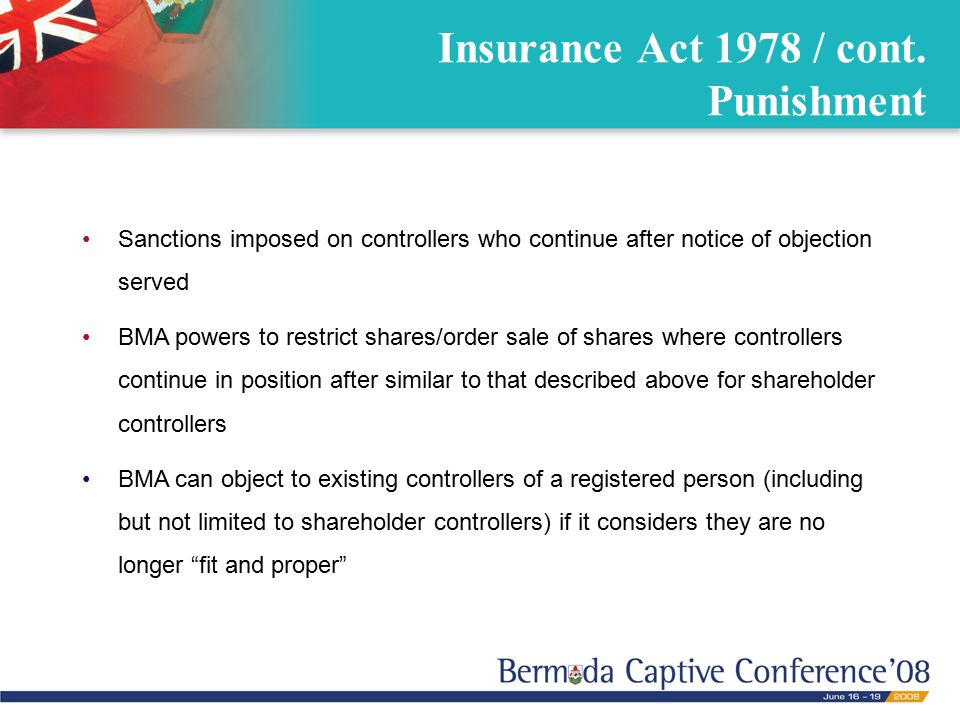 Insurance Act 1978 / cont.