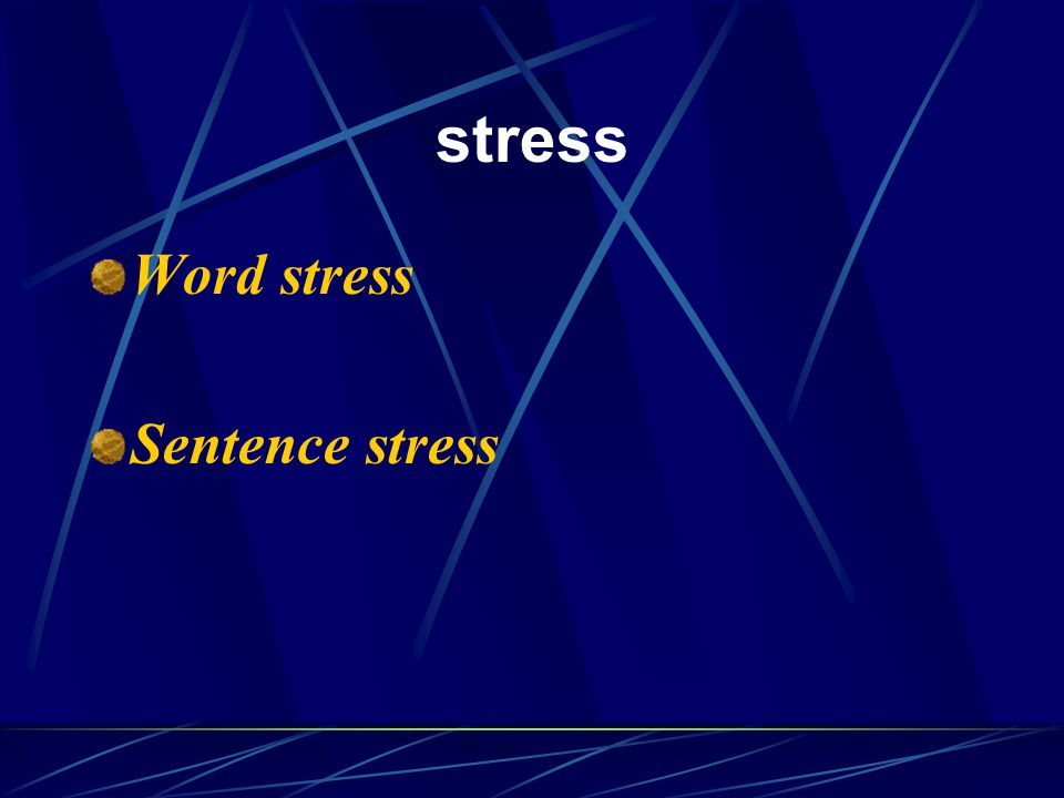 Word stress English words contain syllables.
