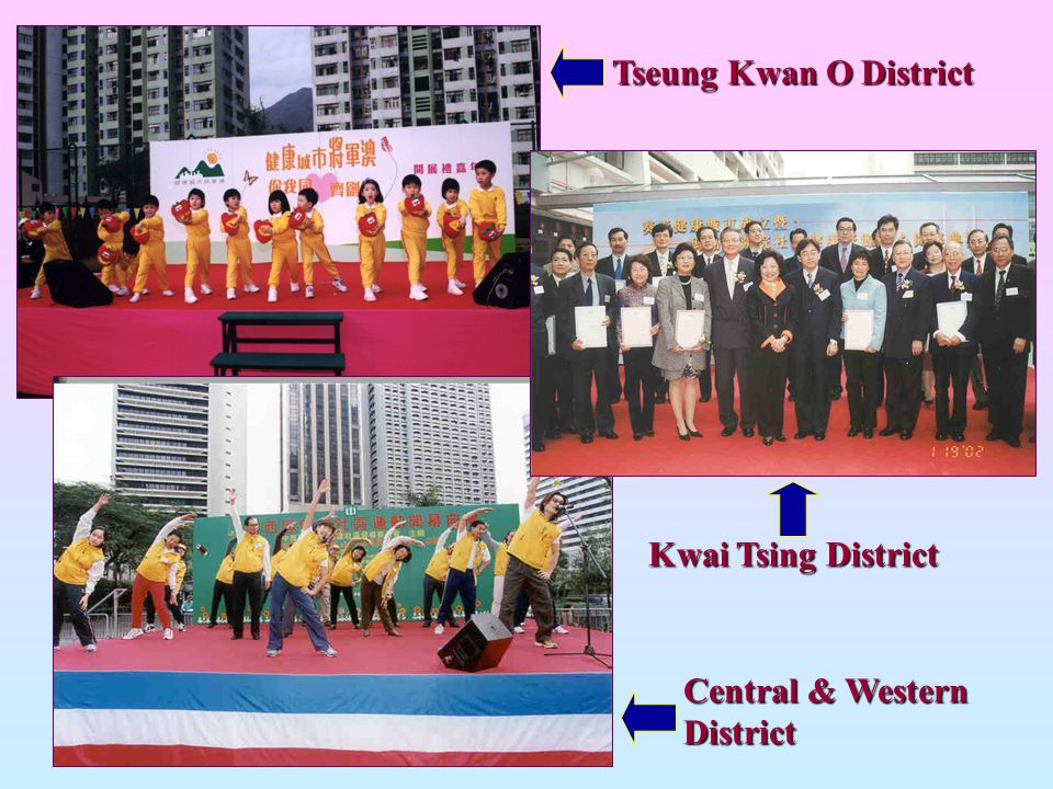 Tseung Kwan O District Kwai Tsing District Central & Western District