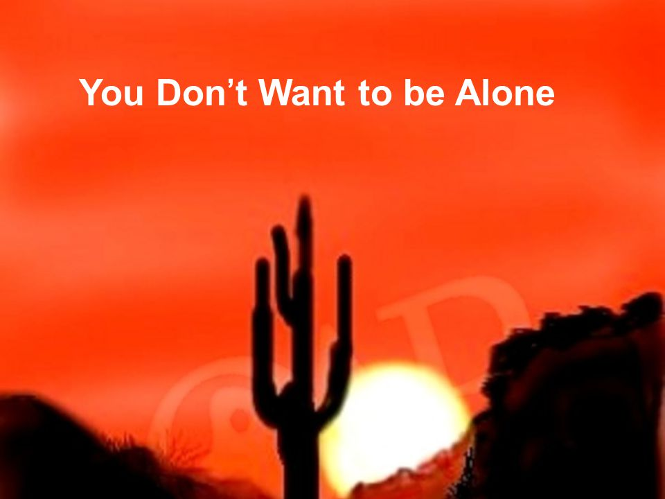 You Don't Want to be Alone 13