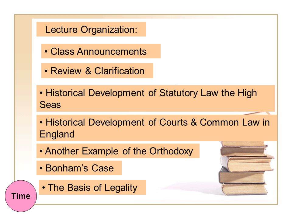 Today's Lecture: Common Law, Courts & America 1. Law in Rome 2.