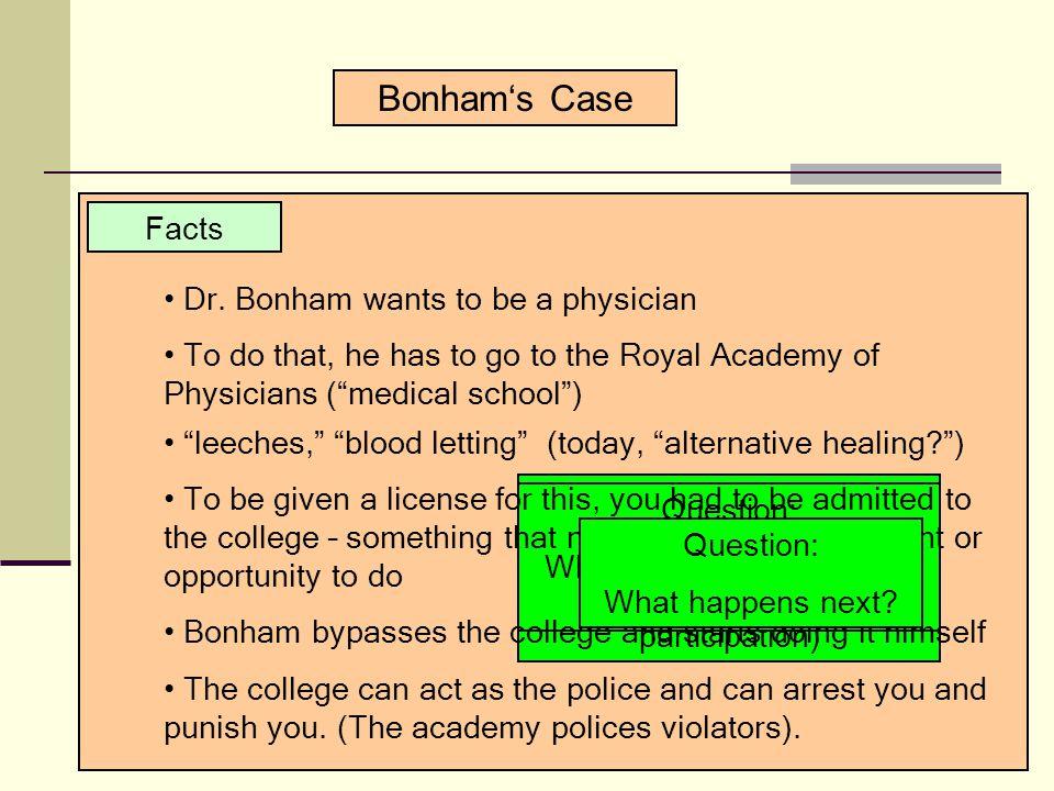 Bonham's Case Facts Dr.