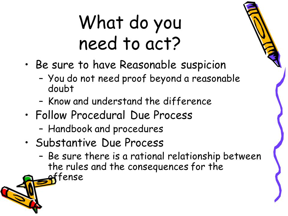 What do you need to act.