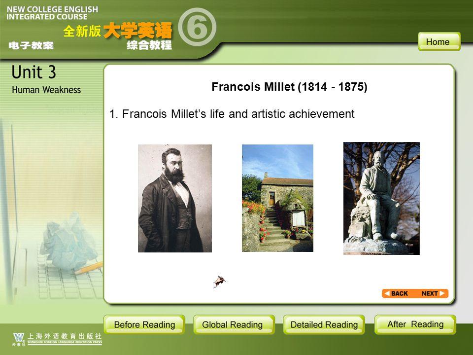 BR1- backgroud2.1.1 Francois Millet (1814 - 1875) 1.