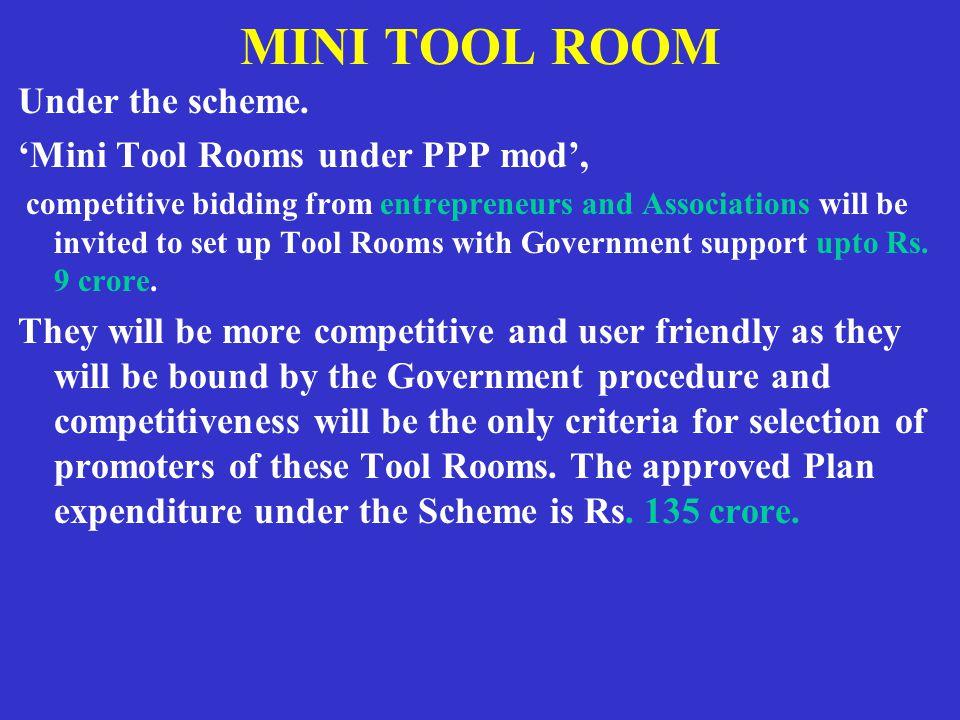 MINI TOOL ROOM Under the scheme.