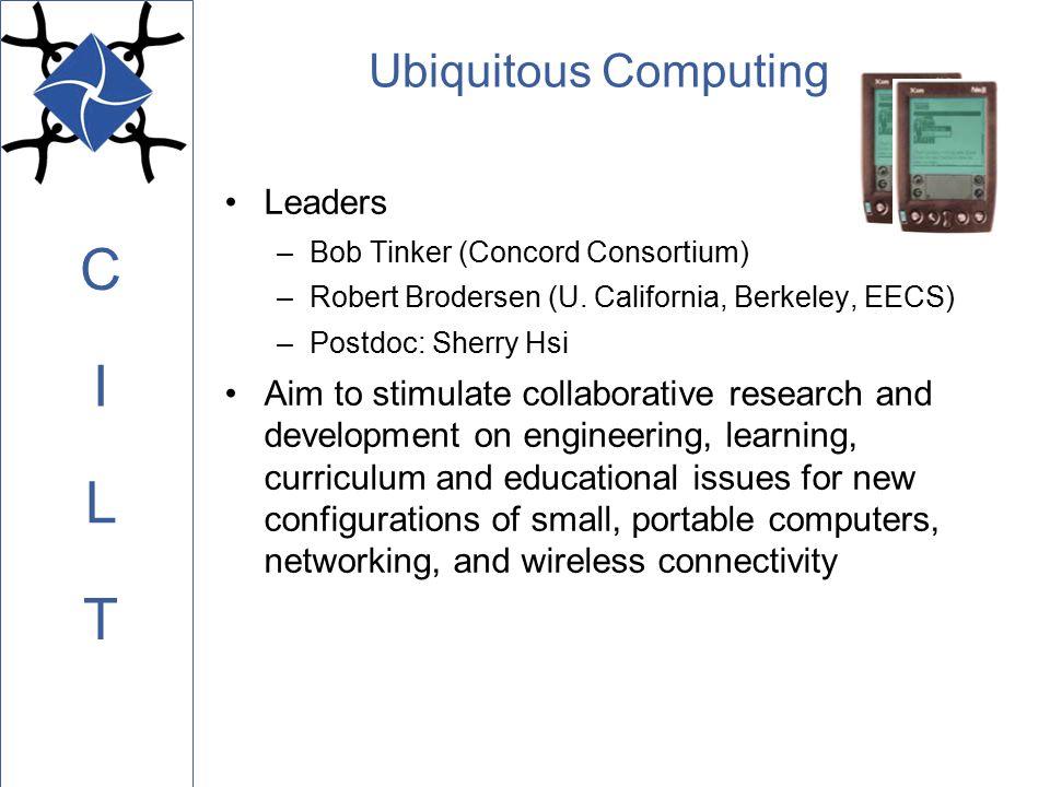 C L I T Ubiquitous Computing Leaders –Bob Tinker (Concord Consortium) –Robert Brodersen (U.