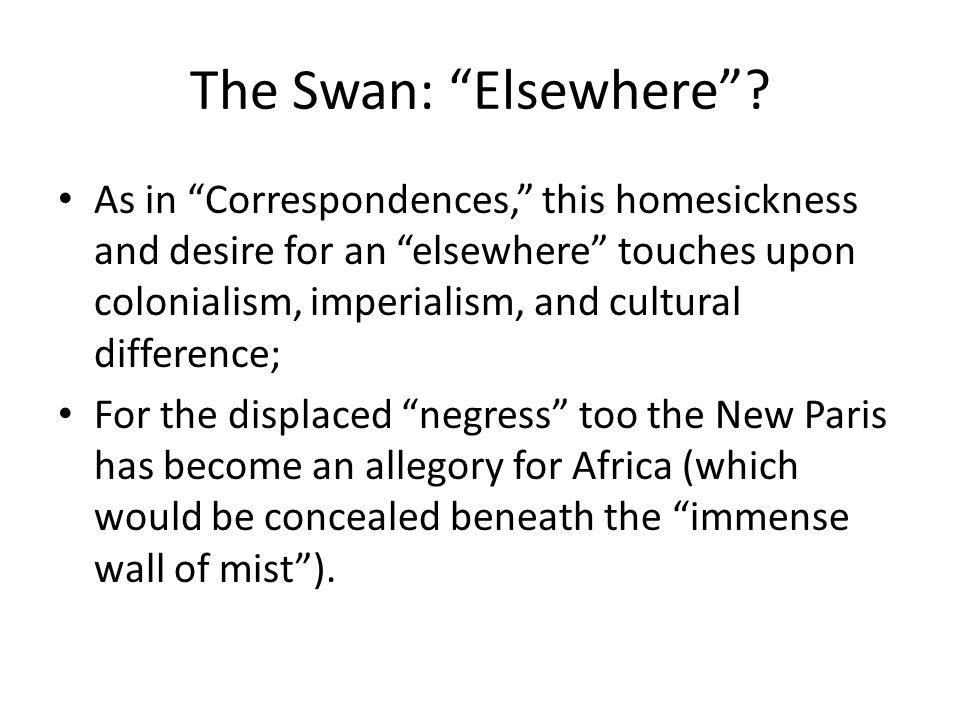 The Swan: Elsewhere .