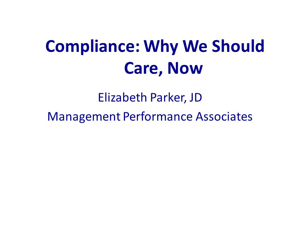 Building an Effective Compliance Program