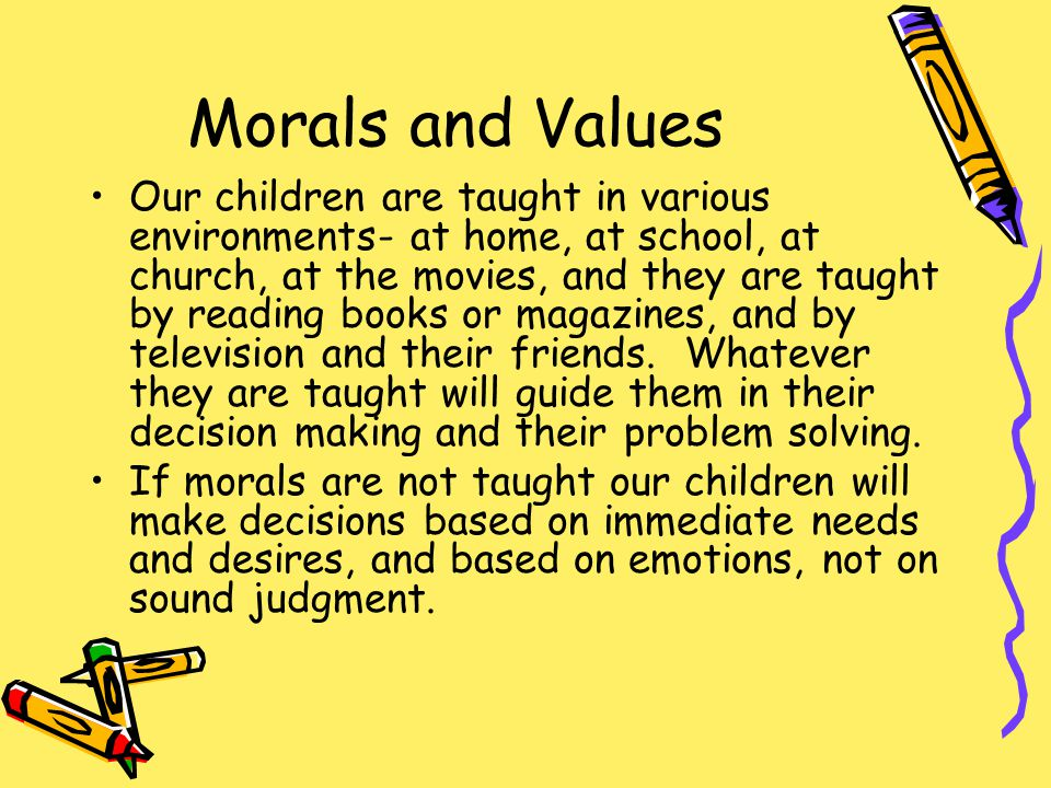 Can Character Education Reverse Moral Decline.
