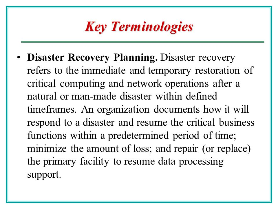 Key Terminologies Crisis Communication Plan. A document that outlines the procedures for disseminating status reports to personnel and the public in t
