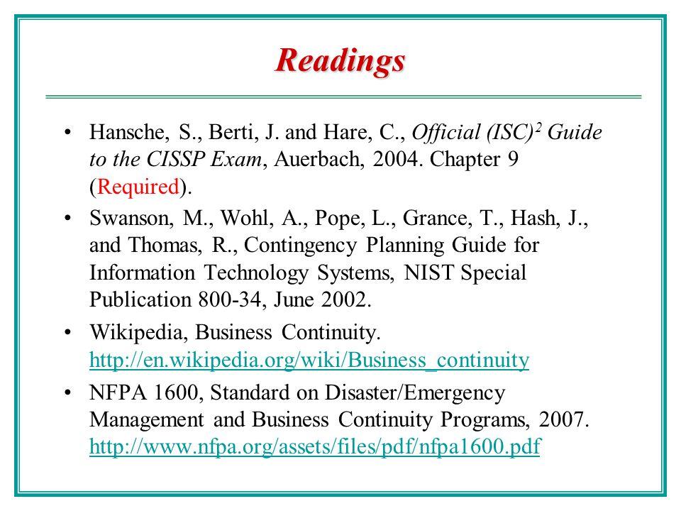 Readings Hansche, S., Berti, J.