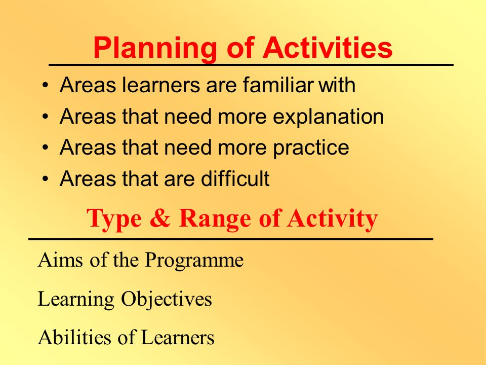 Why Use Activities? To help learners: Think for themselves Draw inferences Relate own ideas and experiences to topics To provide opportunities for the