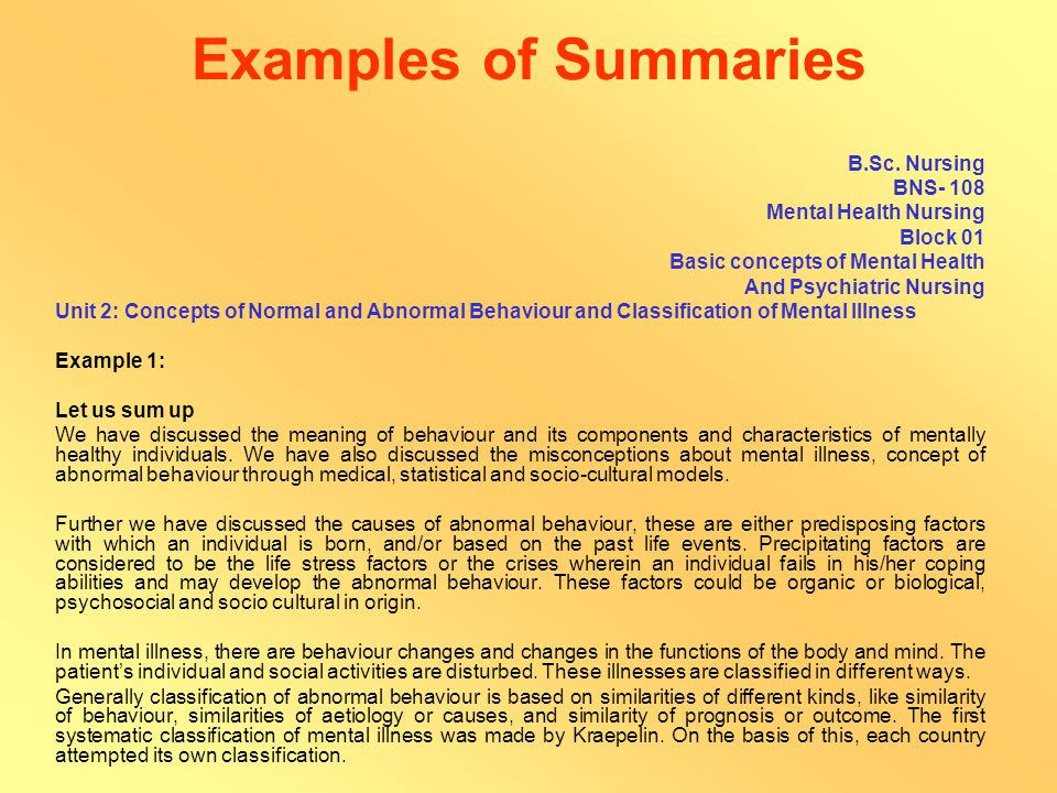 Summary A summary should: Appropriately summarise the content covered in the unit Be written in a clear and lucid manner, reviewing the entire unit Cover all the expected learning outcomes