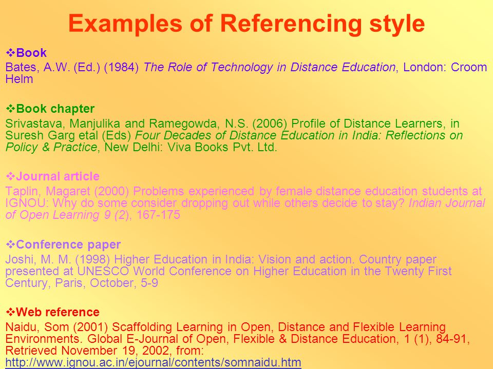 References References should be complete in all respects i.e.