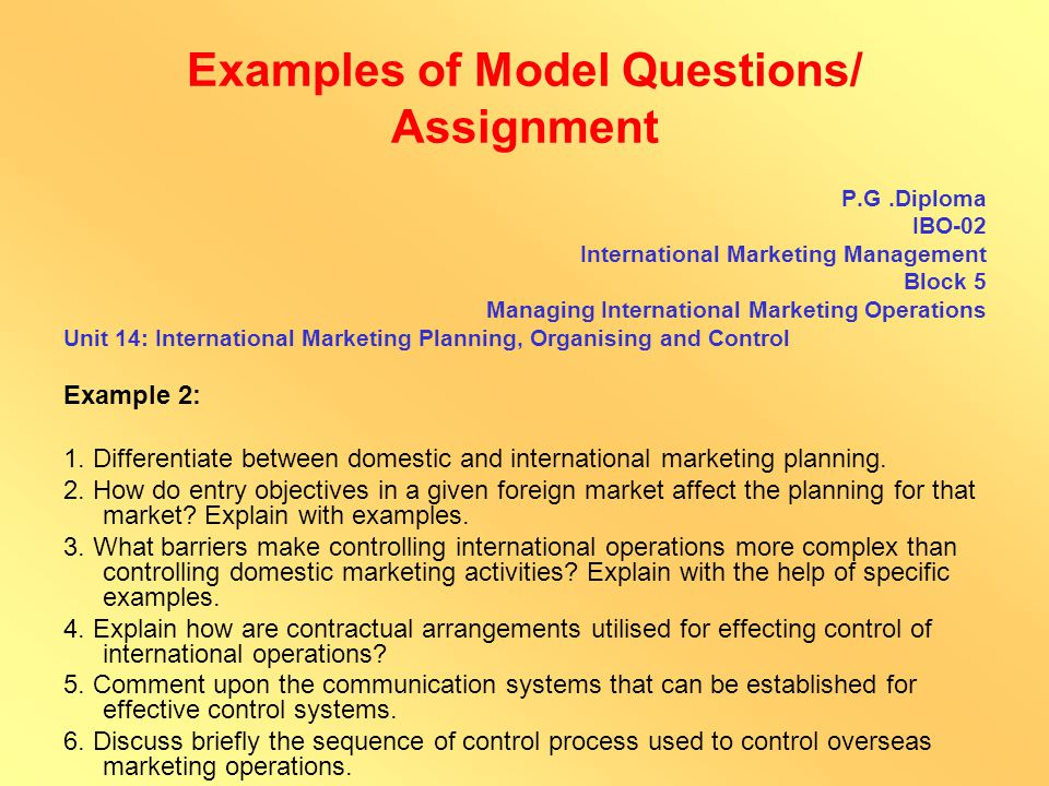 Examples of Model Questions/ Assignment MPA – 005 Disaster Response Unit 9: Managing Human Behaviour and Response Example 1 1.