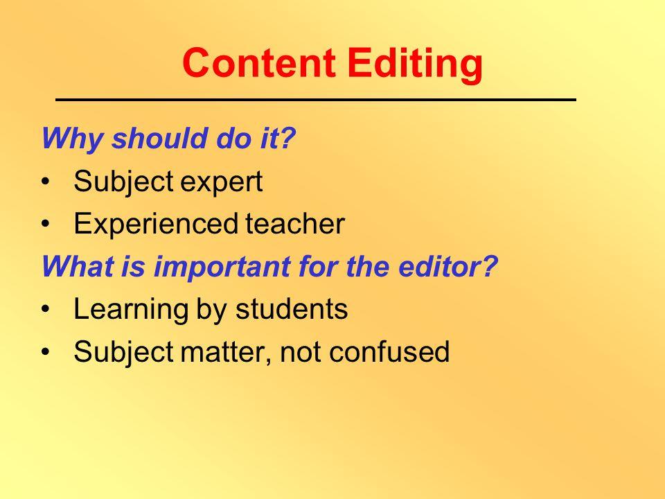 Editing of Materials Types Content Format Language