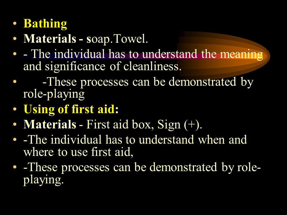 Bathing Materials - soap.Towel.
