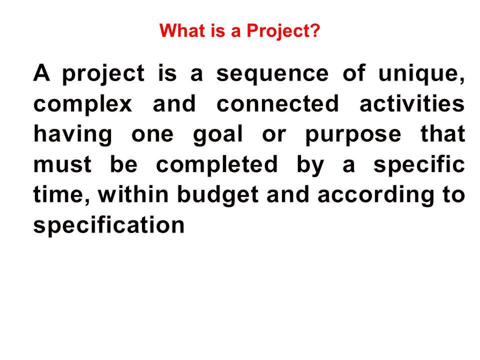 What is a Project? (Robert Wysocki / Robert Beck Jr. / Daniel B. Crane: Effective Project Management, John Wiley & Sons, 2002, p.65)