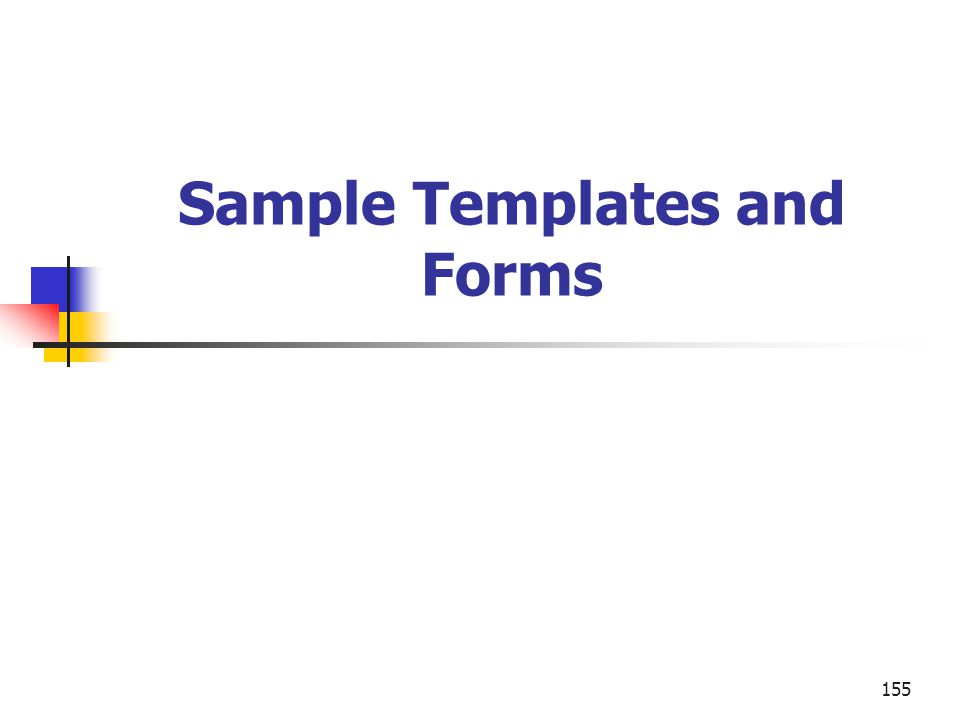 155 Sample Templates and Forms