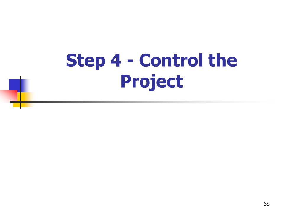 68 Step 4 - Control the Project